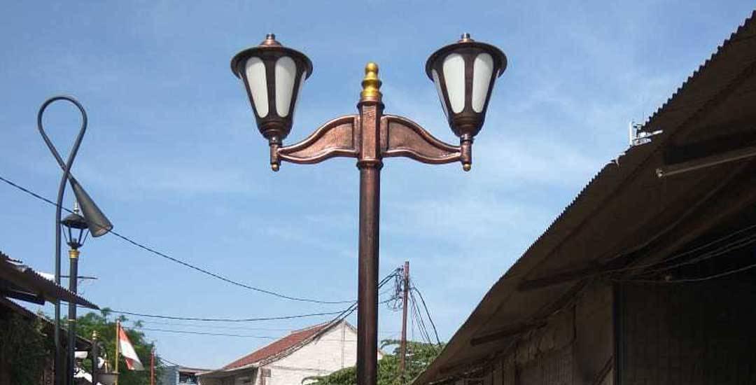 Model Tiang Lampu Jalan Perumahan